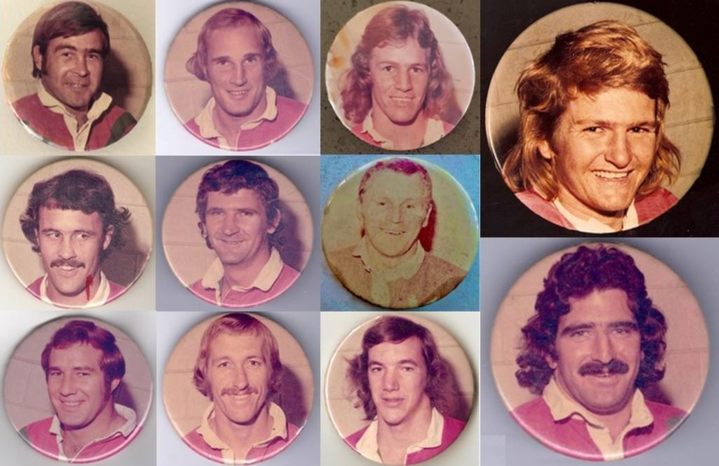 1974 Brisbane Rugby League Player Badges