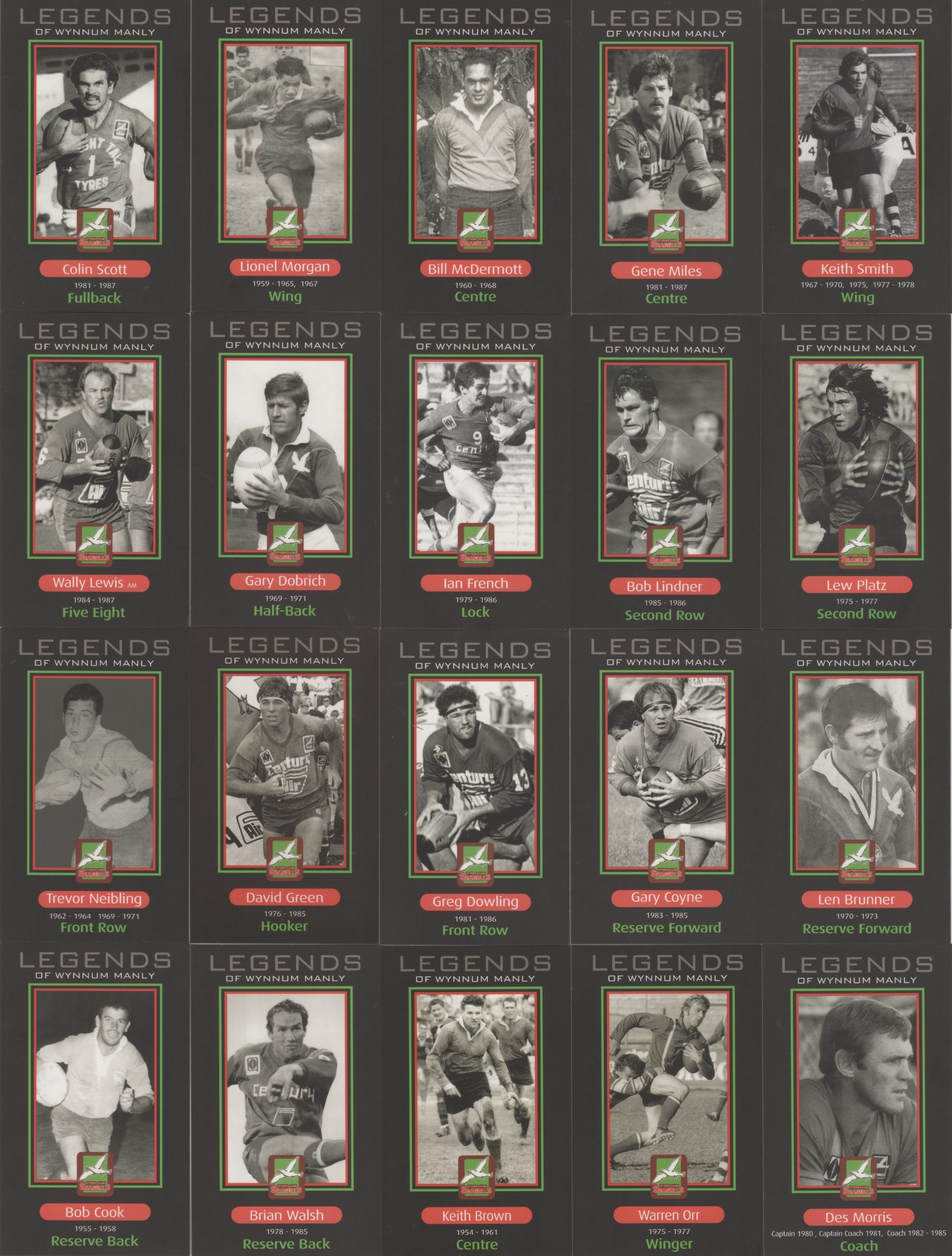 2009 Wynnum Manly Seagulls Trading Cards